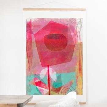 Deny Designs A Rose Is A Rose Wall Scroll