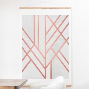 Deny Designs Art Deco Rose Gold Wall Scroll