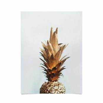 Deny Designs Chelsea Victoria The Gold Pineapple Poster