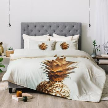 Chelsea Victoria The Gold Pineapple Comforter by Deny Designs