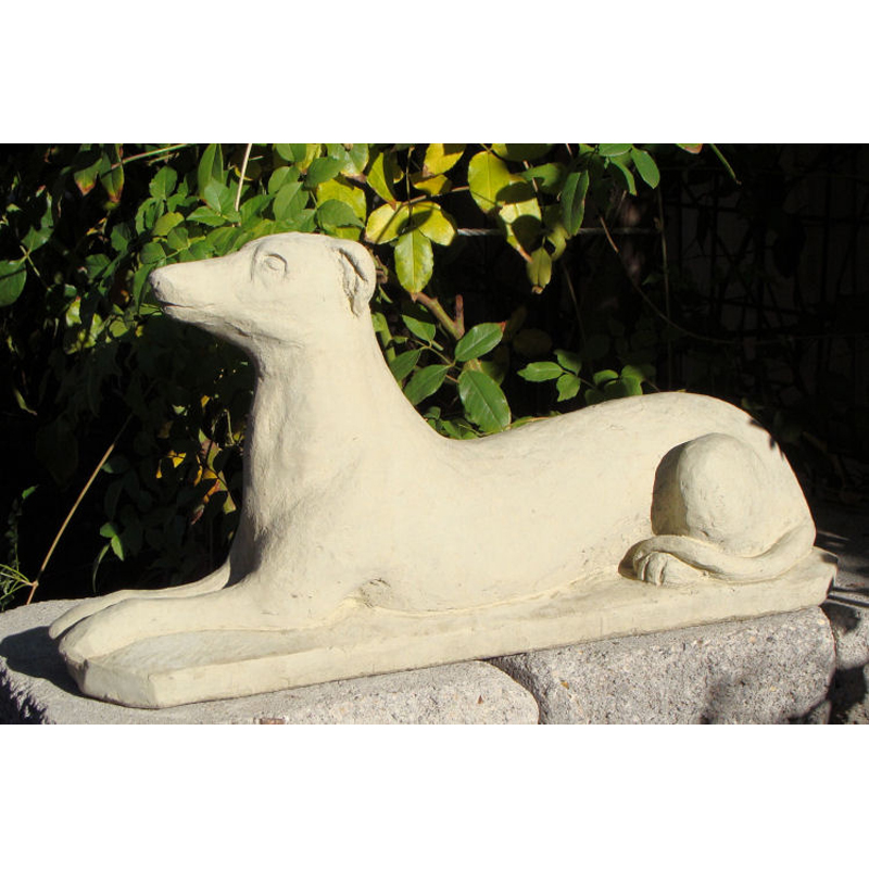 Genial Laying Greyhound Garden Statue   10 In.