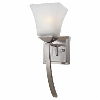 Design House 514786 Torino 1-Light Extended Wall Sconce - Satin Nickel Finish