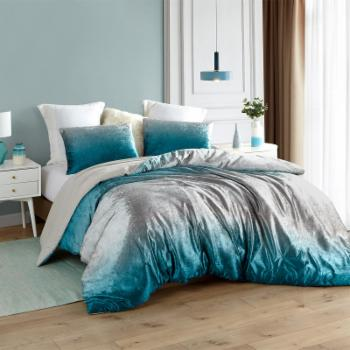 Coma Inducer Ocean Depths Ombre Velvet Crush Oversized Comforter by Byourbed