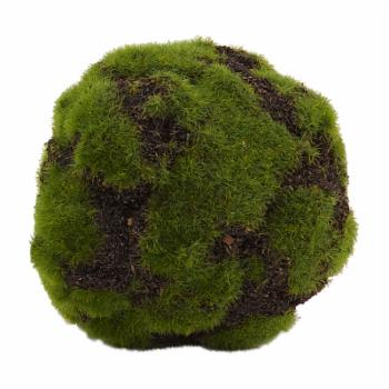 D and W Silks Artificial Crackled Moss Ball - Set of 3