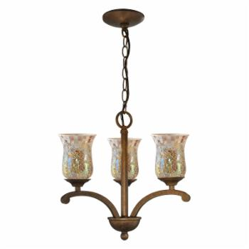 Springdale Lighting Apsley 3-Light Mosaic Chandelier