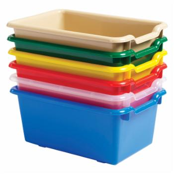 ECR4KIDS Tote Bin with Scoop Front-Set of 10