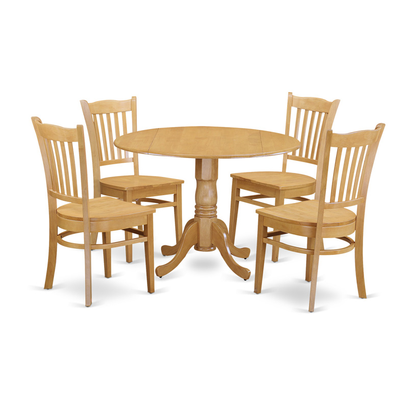 East West Furniture 5 Piece Comb Back Drop Leaf Dinette Dining Table Set  sc 1 st  Hayneedle : drop leaf tables and chairs - Cheerinfomania.Com