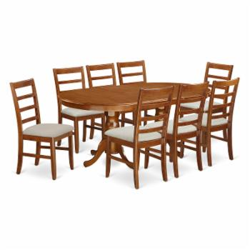 East West Furniture Plainville 9 Piece Shaker Dining Table Set