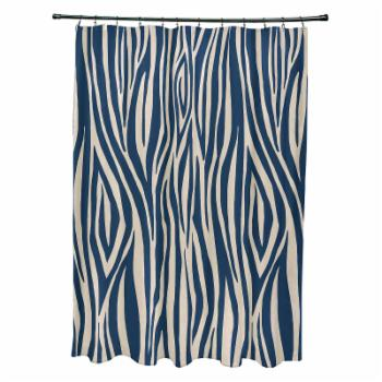 E by Design Wood Stripe Shower Curtain
