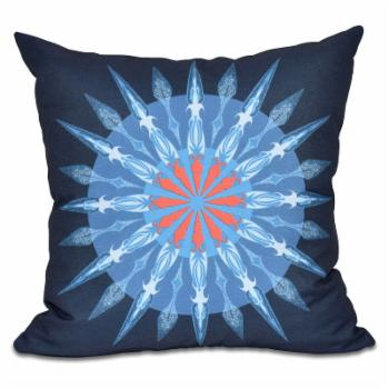 E by Design Nautical Nights Sea Wheel Decorative Pillow