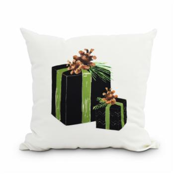 E by Design Natures Gift Holiday Print Decorative Throw Pillow