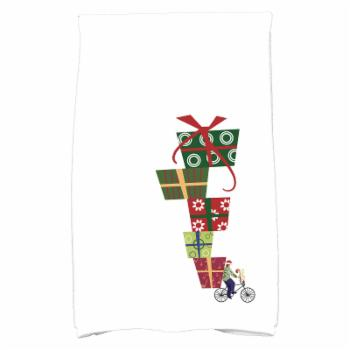 E by Design Jump For Joy Special Delivery Geometric Print Kitchen Towel