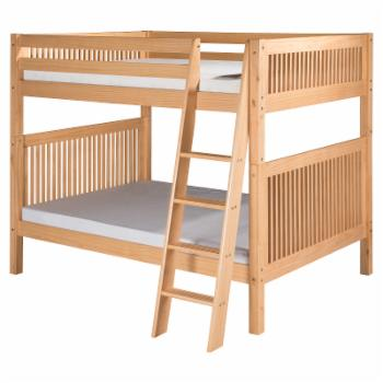 Camaflexi Mission Headboard Full over Full Bunk Bed with Angle Ladder