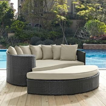 Modway Sojourn Wicker 2 Piece Outdoor Daybed Set