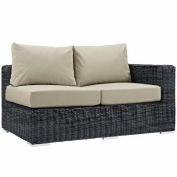 Modway Summon Wicker Outdoor Sectional Right Arm Loveseat