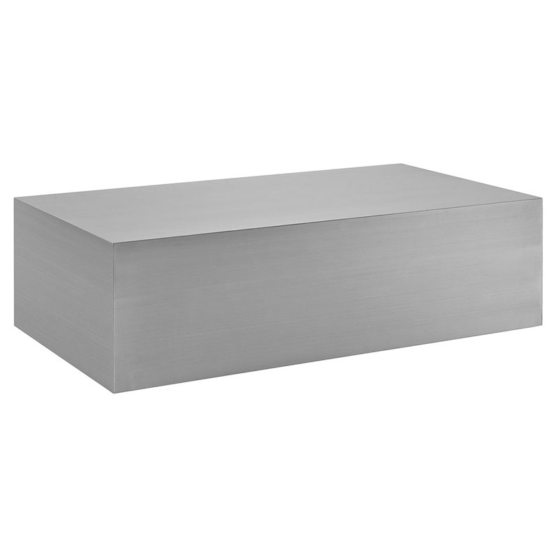 Modway Cast Stainless Steel Coffee Table