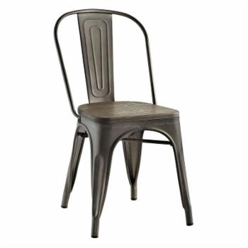 Modway Promenade Dining Side Chair with Bamboo Seat
