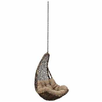 Modway Abate Rattan Patio Hanging Chair