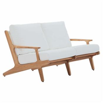 Modway Saratoga Patio Teak Loveseat