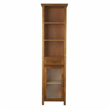 Elegant Home Avery 1 Drawer Linen Cabinet with 3 Open Shelves
