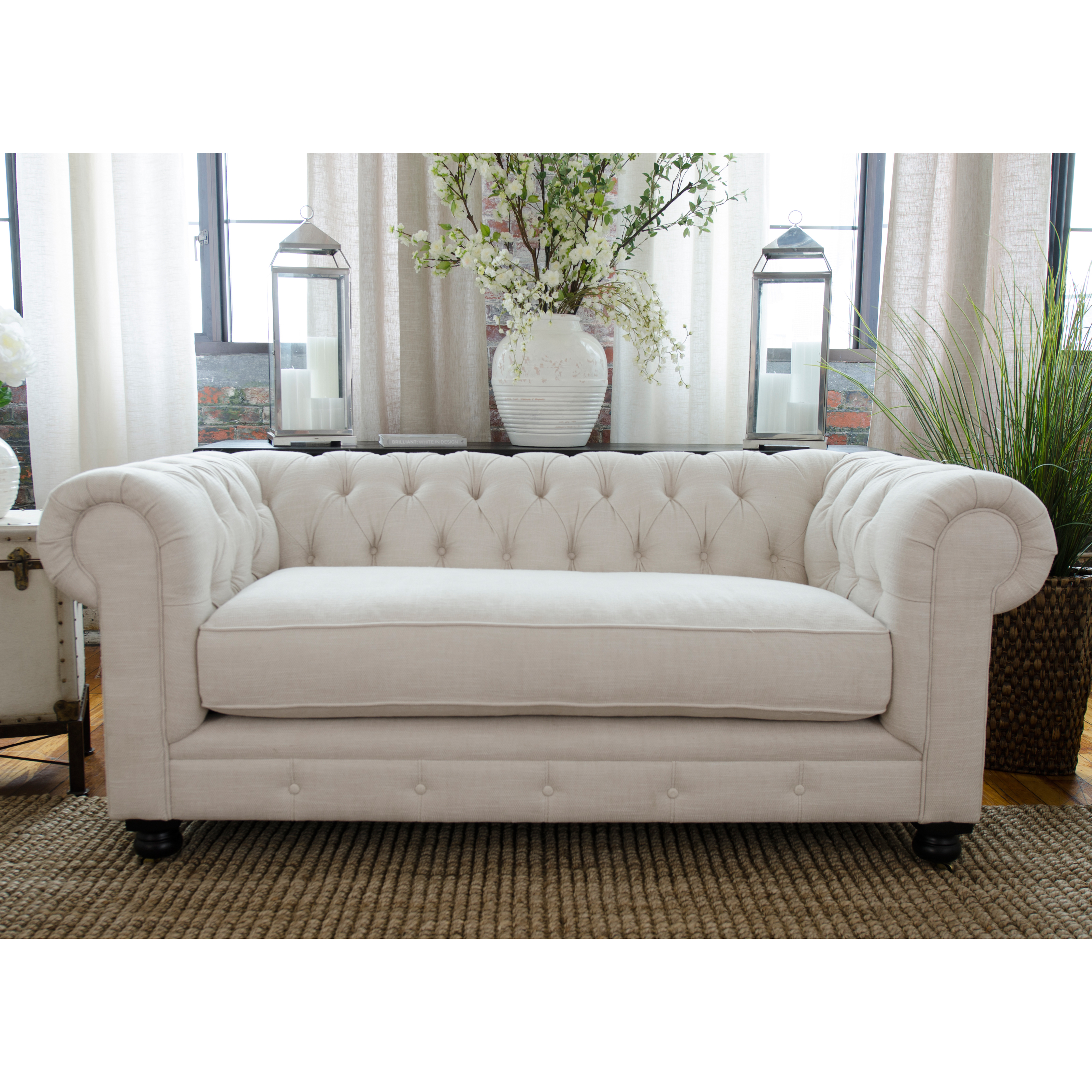 Elements Fine Home Estate Fabric Loveseat