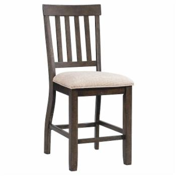 Picket House Furnishings Stanford Upholstered Slat Back Counter Height Dining Side Chair - Set of 2