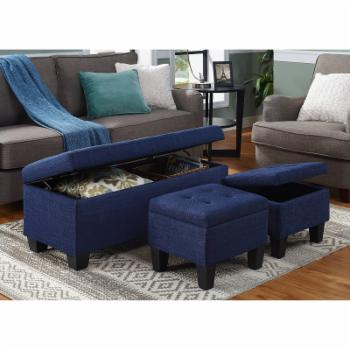 Picket House Everett 3 Piece Storage Ottoman