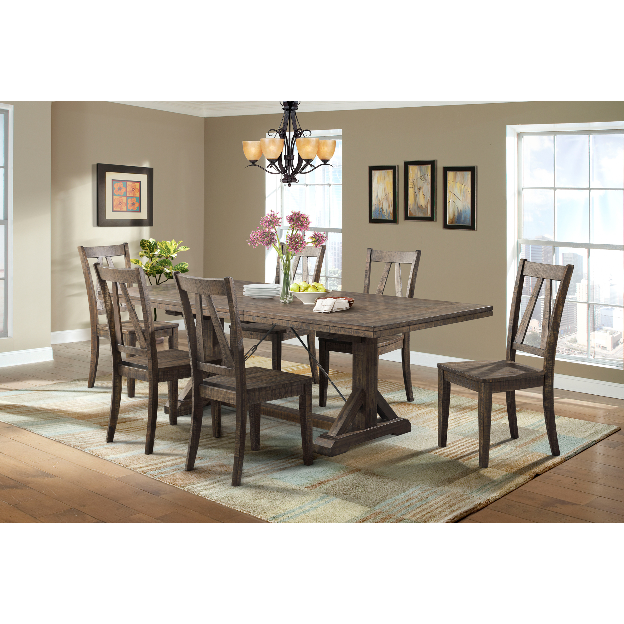 Picket House Flynn 7 Piece Dining Table Set  sc 1 st  Hayneedle & Extendable Kitchen u0026 Dining Tables | Hayneedle