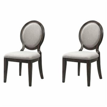 Picket House Furnishings Steele Round Fabric Dining Chair - Set of 2