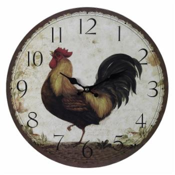 Sterling Large Rooster 13 in. Wall Clock