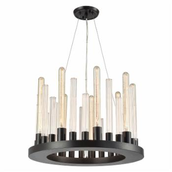 Elk Lighting Glass Skyline 10720/9 Chandelier