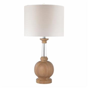 ELK Lighting Wood and Crystal Table Lamp