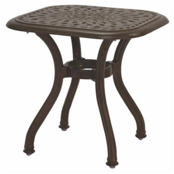 Darlee Series 60 Cast Aluminum Square End Table