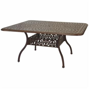 Darlee Series 60 Cast Aluminum 60 in. Square Dining Table