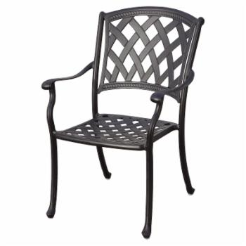 Darlee Ocean View Patio Dining Chairs with Cushions - Set of 4