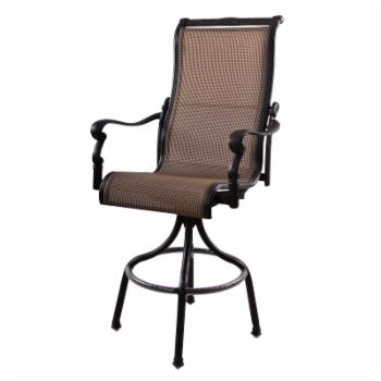 Darlee Monterey Swivel Patio Bar Stool - Set of 2