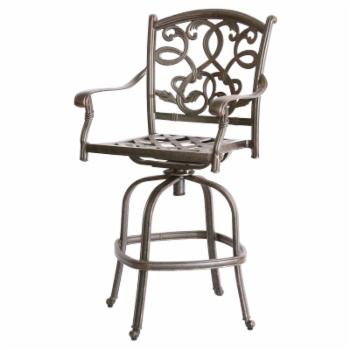 Darlee Santa Monica Counter Height Armless Swivel Patio Bar Stool - Set of 2