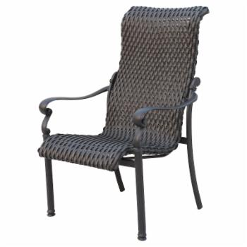 Darlee Victoria Wicker Patio Dining Chair - Set of 4