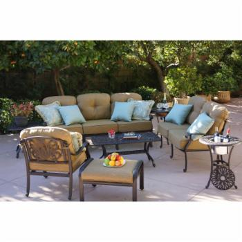 Darlee Elizabeth 4 Piece Deep Seating Aluminum Patio Conversation Set