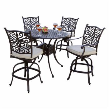 AC Home Brooklyn Bar Height 5 Piece Outdoor Dining Set