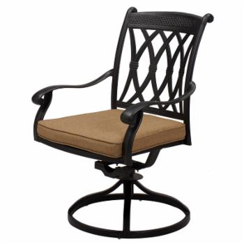 Darlee Capri Swivel Rocker Dining Chair - Set of 4