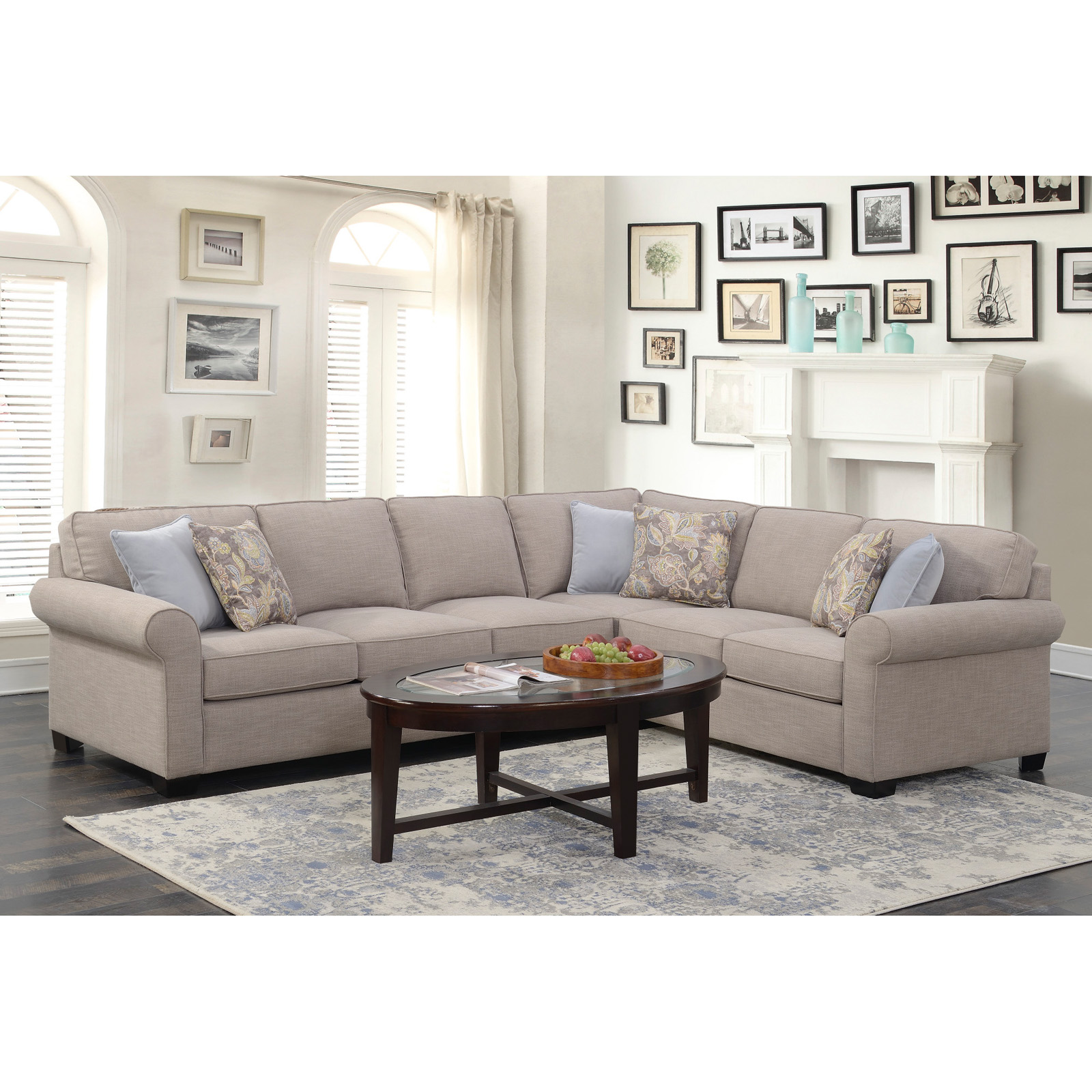 Emerald Home Angelica 2 Piece Sleeper Sectional Sofa