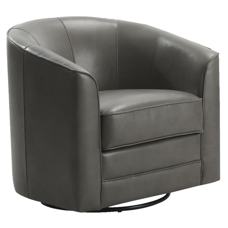 Exceptionnel Emerald Home Furnishings Milo Bonded Leather Swivel Chair   Gray | Hayneedle