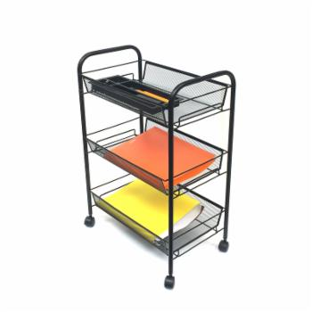Mind Reader 3 Tier Multi Purpose Mobile Storage Cart