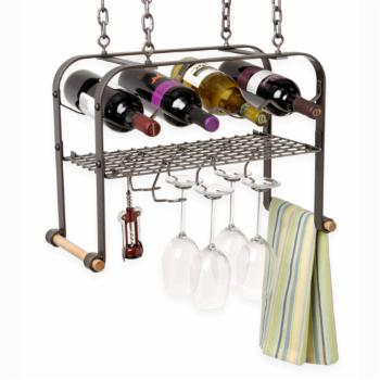 Enclume Hanging 4-Bottle Wine Rack