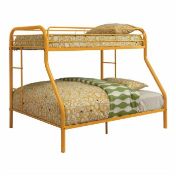 Furniture of America Carleen Modern Twin over Full Bunk Bed with Dual Sided Ladder