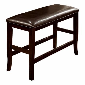 Furniture of America Ridgeway Counter Height Leatherette Dining Bench