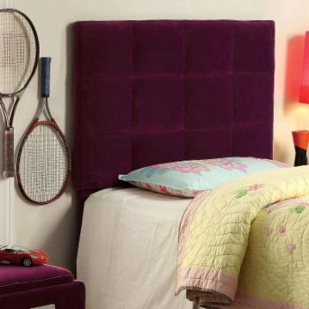 Furniture of America Amethyst Velvet Upholstered Headboard