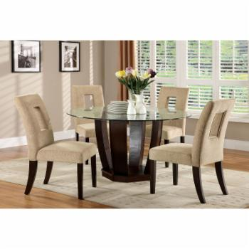 Furniture of America Wallace 5 Piece Dining Set