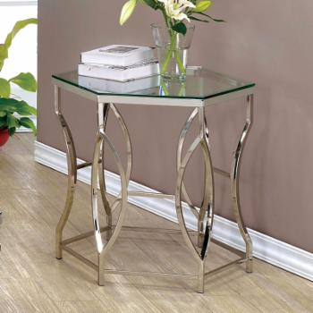 Furniture of America Remus Hexagonal End Table